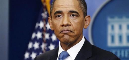 грустный Обама