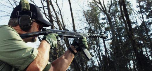 Советский пистолет-пулемет Симонова ППС-43 тестирует Ларри Виккерс