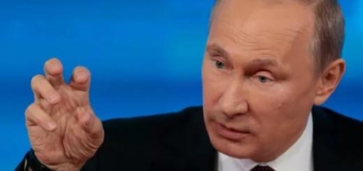 Путин как курица лапой