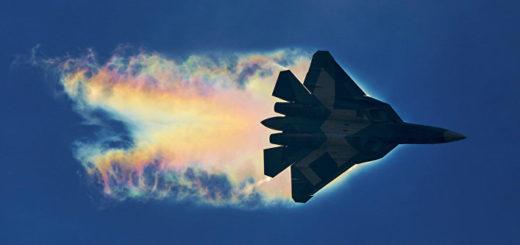 Су-57 в полёте