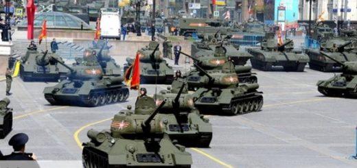Перед парадом Победы на Красной площади гусеничную технику переобули для защиты асфальта