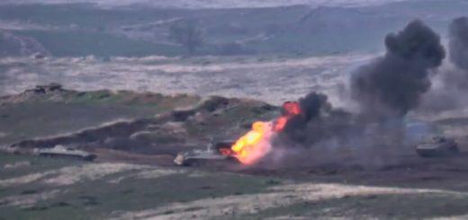 Армия обороны НКР уничтожила огневые точки войск Азербайджана